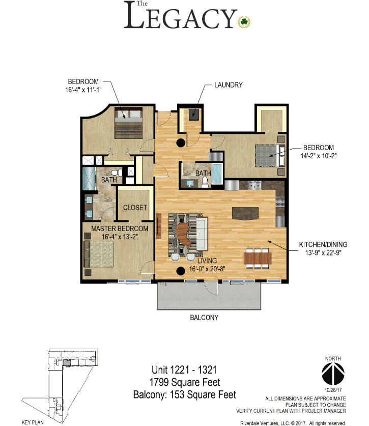 The Legacy Condos Minneapolis - Unit 1321 Floor Plan