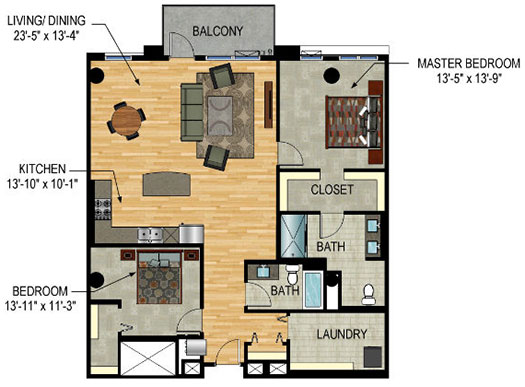 Floor Plan - The Legacy Minneapolis - Unit 1128