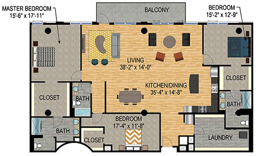Floor Plan - The Legacy Minneapolis - Unit 1224