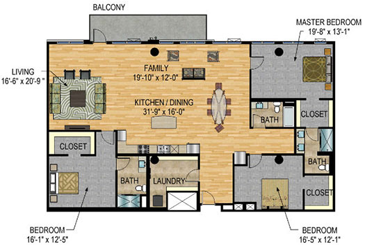 Floor Plan - The Legacy Minneapolis - Unit 1226