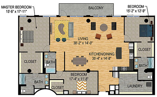 Floor Plan - The Legacy Minneapolis - Unit 1324
