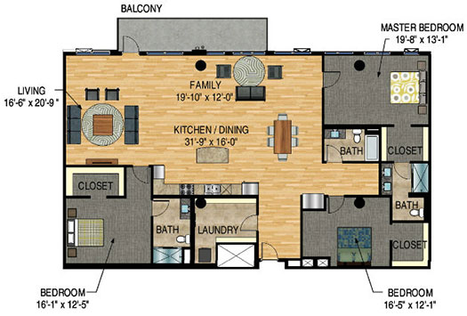 Floor Plan - The Legacy Minneapolis - Unit 1426