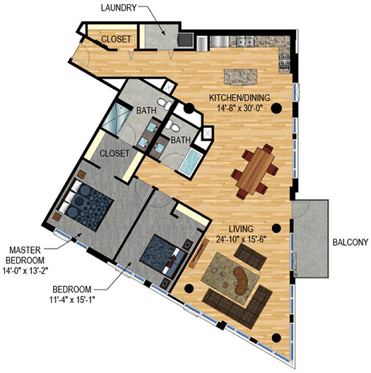 Floor Plan - The Legacy Minneapolis - Unit 301